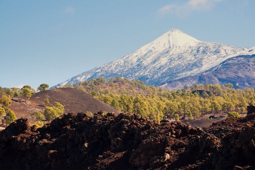 Snow-capped Mount Teide